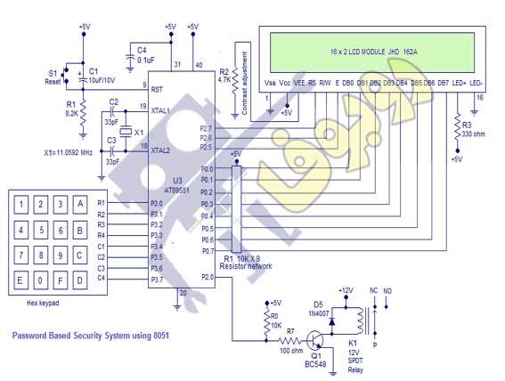 پروژه کامل و آماده قفل دیجیتال با میکروکنترلر 8051