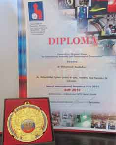 کسب جایزه ویژه و دیپلم افتخار سازمان همکاریهای علمی بین المللی روسیه توسط صنایع رباتیک روبوفا