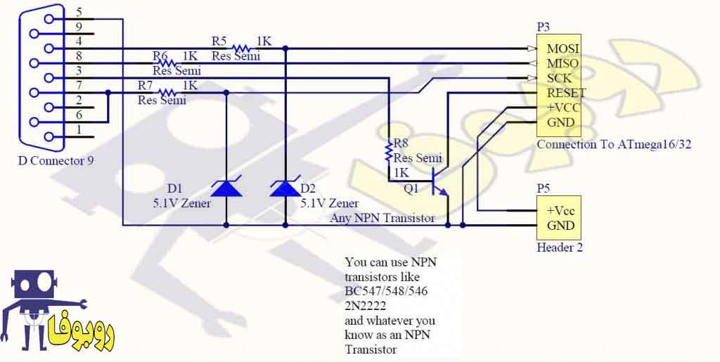 نقشه آماده مدار پروگرامر میکروکنترلر