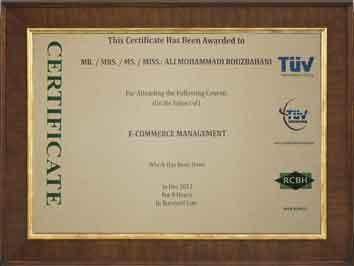 گواهینامه بین المللی مدیریت مربوط به مدیران روبوفا